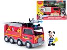 Mickey Mouse hasičské vozidlo 24cm na baterie se světlem a zvukem + kloubová figurka