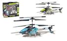 RC vrtulník kov/plast 18 cm na baterie a vysílačku s USB kabelem na nabíjení
