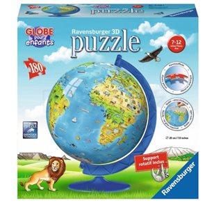 Puzzle 3D Dětský Globus (anglický), 180 dílků