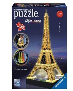 Puzzle 3D Eiffelova věž (Noční edice), 216 dílů