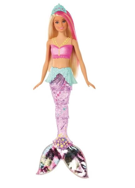 Barbie Svítící mořská panna s pohyblivým ocasem - běloška