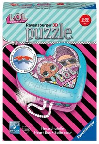 Puzzle - Srdce L.O.L., 54 dílků