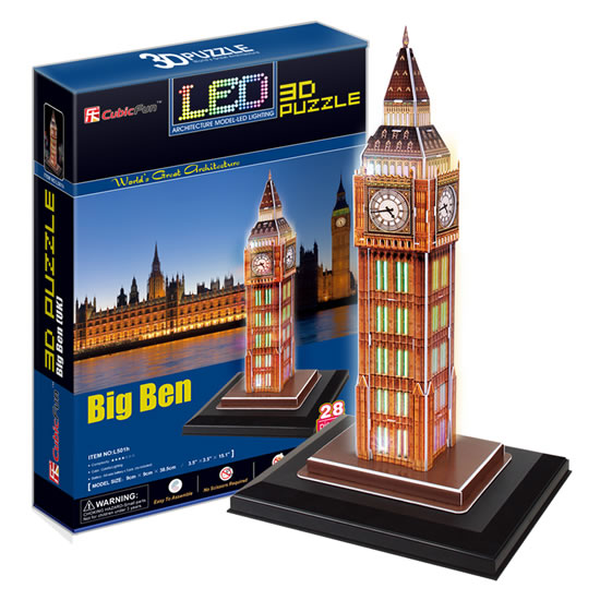 Puzzle 3D Big Ben / led - 23x33 cm