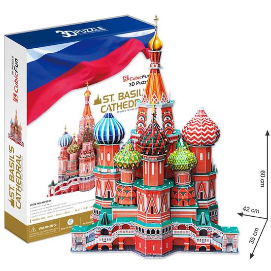 Puzzle 3D Katedrála sv. Basileje - 23x33 cm