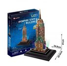 Puzzle 3D Empire State Building/LED - 38 dílků
