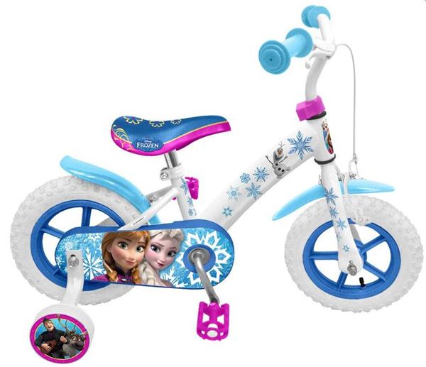 Jízdní kolo 12´´ Ledové království s postranními kolečky, Doprava zdarma