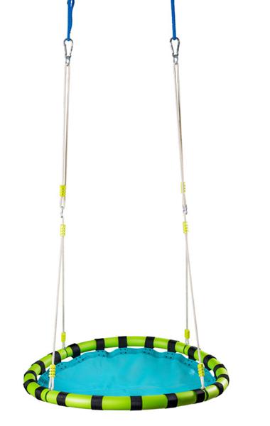 Skládací houpací kruh, modrý průměr 103 cm, nosnost 80 kg, Doprava zdarma