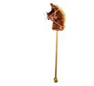 Koňská hlava na dřevěné tyči se zvuky, hnědá
