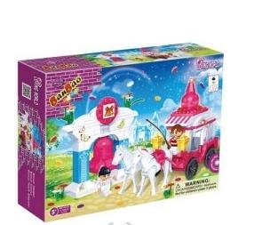BanBao stavebnice Loving World svatební kočár s koňmi