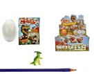 Dinosaurus ve vajíčku 7cm, rospustné ve vodě, v sáčku - mix motivů
