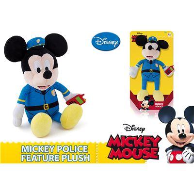 Mickey Mouse plyšový policista 30cm na baterie se zvukem 12m+ v krabičce