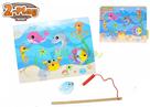 Hra ryby dřevěná magnetická 2-Play 30x22,5cm 12m+