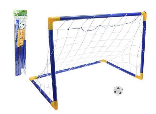 Fotbalová branka 80×50×63cm s míčem