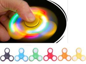 Fidget Spinner s LED světlem
