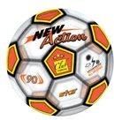 Míč 23cm transparentní design fotbal,  mix barev