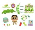 Miminko Pea Pod Babies s doplňky 3 kapsle v lusku, mix 12 druhů