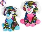 Tygr Star Sparkle plyšový barevný 24 cm sedící, mix barev