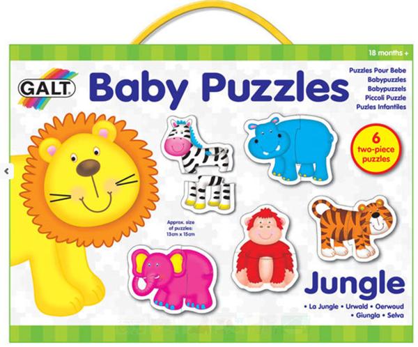 Puzzle pro nejmenší – zvířátka v džungli (12,5×15cm)