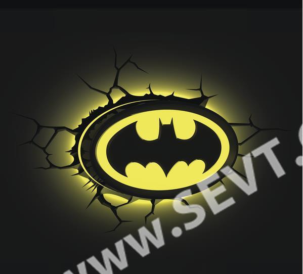 3D světlo Batman - Logo. 3D světlo Batman - Logo. 3D světlo Batman - Logo ef3fce53f69