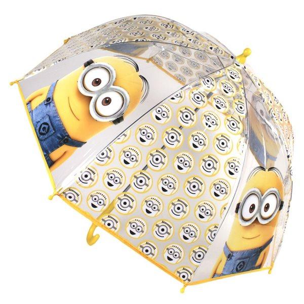 Dětský deštník Mimoni - transparentní