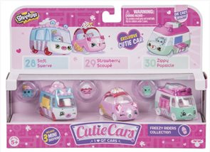 Shopkins Cutie Cars Sada 3 kusů - mix druhů