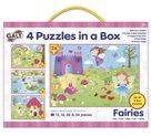 Puzzle v krabici - Víly, 4 motivy