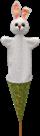 Maňásek Králíček bílý 59 cm 3v1,kornout