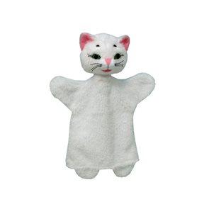 Maňásek Kočka bílá 26 cm