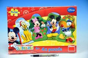 Puzzle Mickeyho klubík 4× 54 dílků