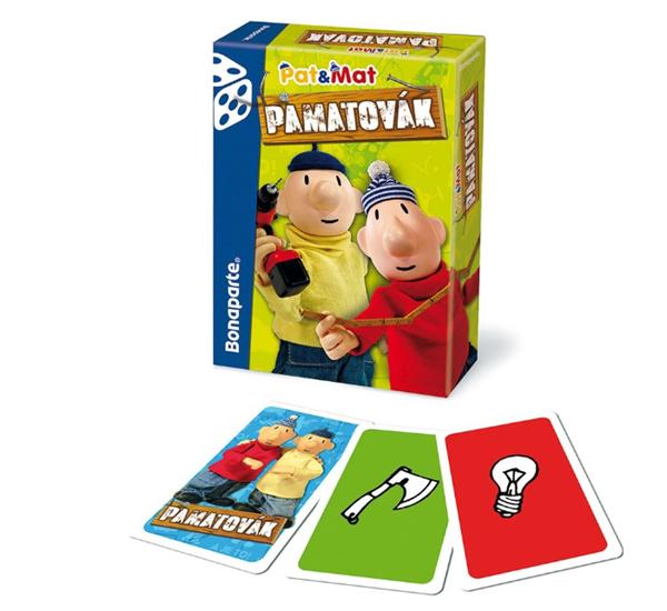 Pamatovák Pat a Mat postřehová karetní hra