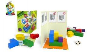 Qubolo společenská hra s dřevěnými kostkami v látkovém pytlíčku