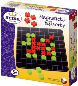 Magnetické piškvorky dřevěné společenská hra