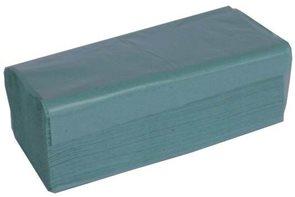 Z-Z ručníky 1 vrstvé - zelené ( 250 ks)