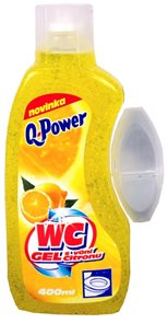 Q power wc gel - citrus ( žlutý ) - 400 ml