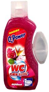 Q power wc gel -  exotic( červený ) - 400 ml