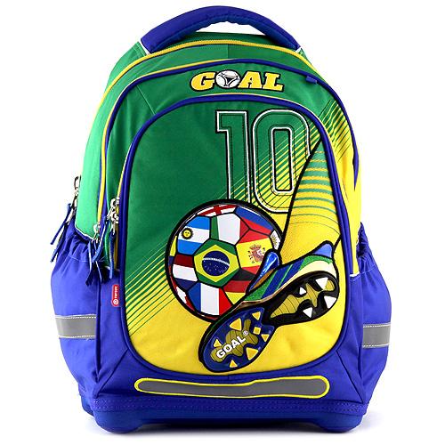Školní batoh Target - Fotbal - modrozelený, Doprava zdarma