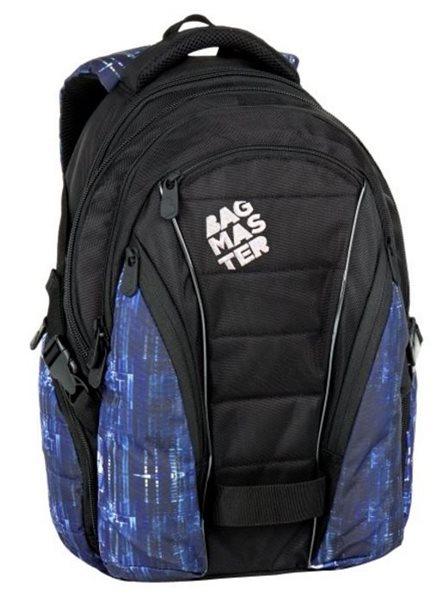 Školní batoh Bagmaster - BAG 7 G BLACK/BLUE/WHITE, Doprava zdarma