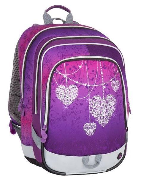 Školní batoh Bagmaster - ALFA 7 A VIOLET/PINK, Doprava zdarma