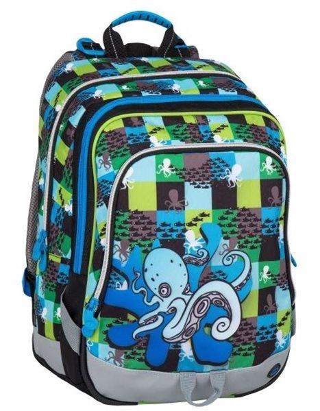 Školní batoh Bagmaster - ALFA 7 C BLUE/GREEN, Doprava zdarma