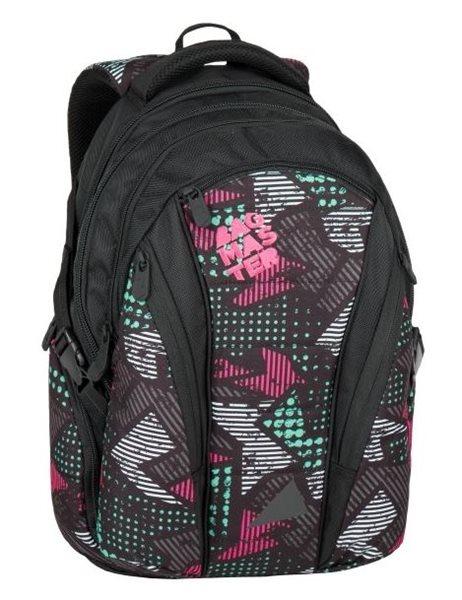 Studentský batoh Bagmaster - BAG 7 B BLACK/PINK/GREY, Doprava zdarma