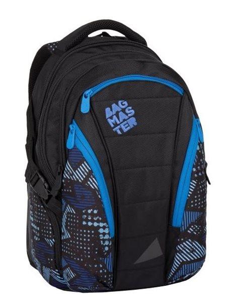 Studentský batoh Bagmaster - BAG 7 E BLACK/BLUE, Doprava zdarma