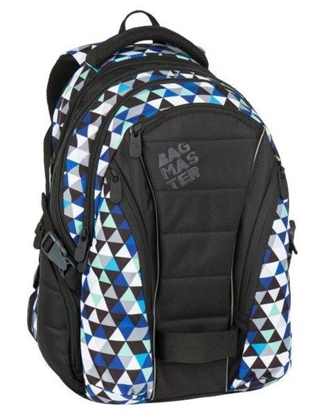 Studentský batoh Bagmaster - BAG 7 I BLACK/BLUE/GREY, Doprava zdarma