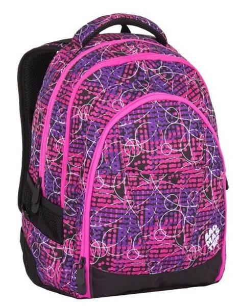 Studentský batoh Bagmaster - DIGITAL 7 B PINK/VIOLET, Doprava zdarma