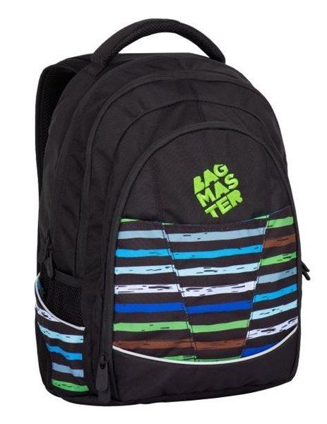 Studentský batoh Bagmaster - DIGITAL 7 E BLACK/BLUE/GREEN, Doprava zdarma