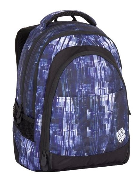 Studentský batoh Bagmaster - DIGITAL 7 CH BLUE/BLACK, Doprava zdarma