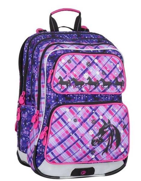 Školní batoh Bagmaster - GALAXY 7 B VIOLET/PINK, Doprava zdarma