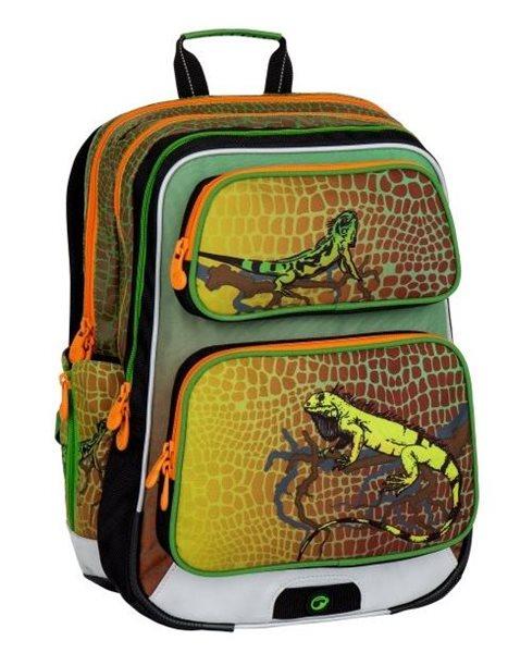 Školní batoh Bagmaster - GALAXY 7 E GREEN/ORANGE, Doprava zdarma