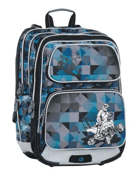 Školní batoh Bagmaster - GALAXY 7 F BLUE/BLACK/GREY, Doprava zdarma