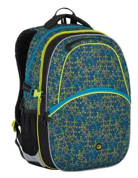 Školní batoh Bagmaster - MADISON 7 C BLACK/BLUE/GREY, Doprava zdarma