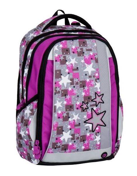 Školní batoh Bagmaster - MERCURY 7 A PINK/GREY, Doprava zdarma